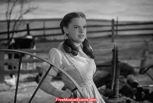 Pretty Judy Garland as Dorothy in The Wizard of Oz