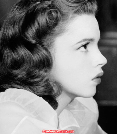 Side view of Judy Garland