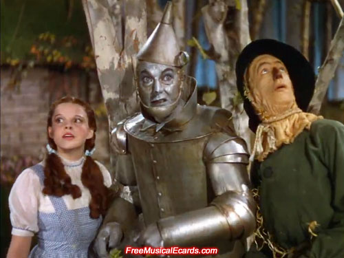 A surprised look on Judy Garland as Dorothy in The Wizard of Oz