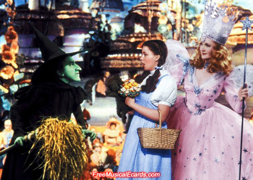 The wicked Witch of the West scares the living daylights out of Dorothy