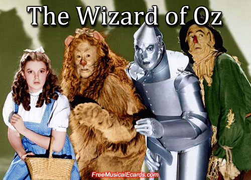 The Wizard of Oz starring Judy Garland as Dorothy