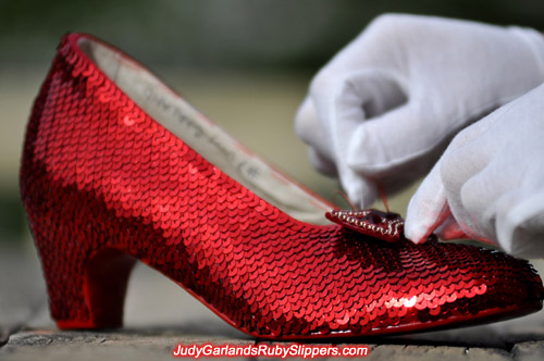 Judy Garland's ruby slippers is nearly finished