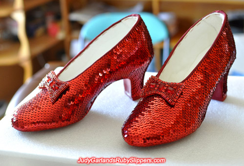 Accurate replica of Judy Garland's ruby slippers