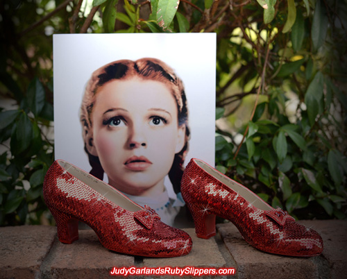 Beautiful and magical ruby slippers