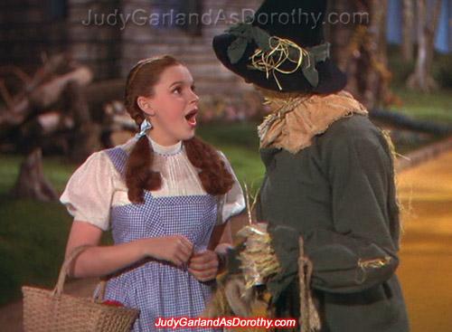 Beautiful Judy Garland as Dorothy
