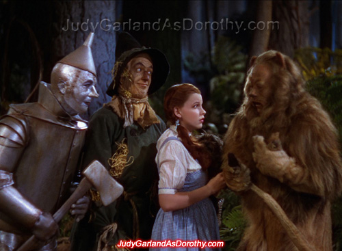 Beautiful Judy Garland as Dorothy