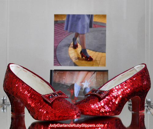 Beautiful pair of Judy Garland's ruby slippers