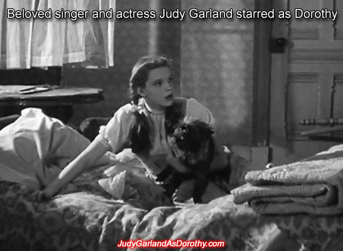 Beloved singer and actress Judy Garland starred as Dorothy
