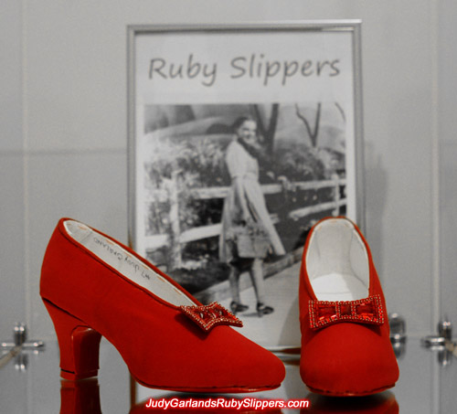 Bows looks perfect on Judy Garland's ruby slippers