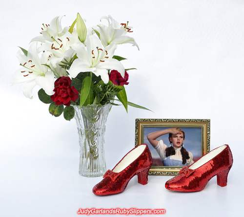 Breathtaking beauty of Judy Garland's ruby slippers