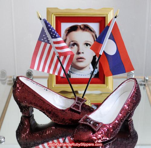 Burgundy ruby slippers