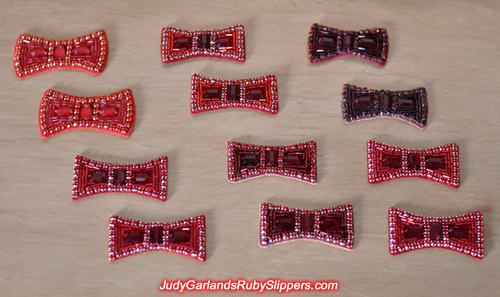 Collection of ruby slipper bows inspired by The Wizard of Oz