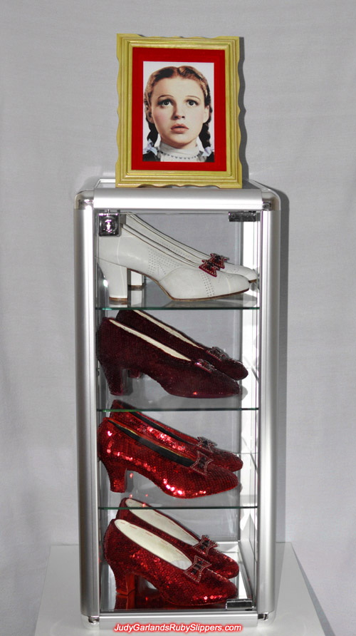 Collection of ruby slippers from The Wizard of Oz
