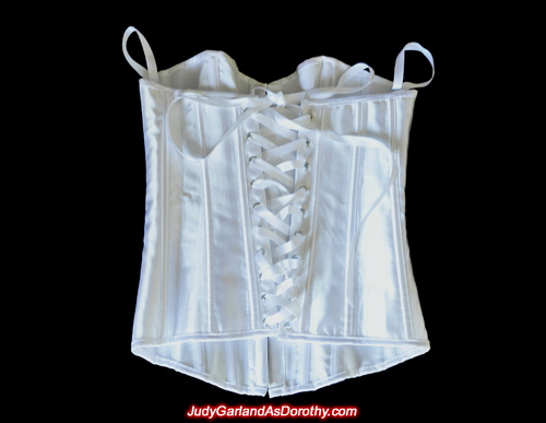 Back of corset as worn by Judy Garland as Dorothy