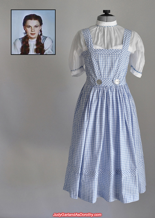 Corset under Judy Garland as Dorothy's Wizard of Oz dress