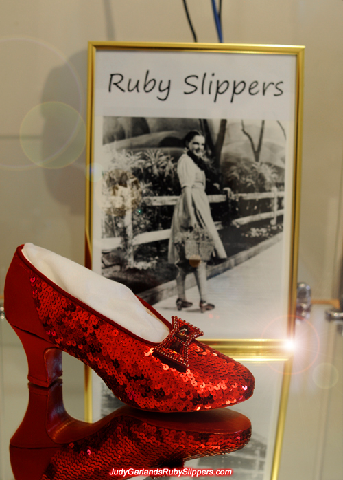 Crafting Judy Garland's ruby slippers