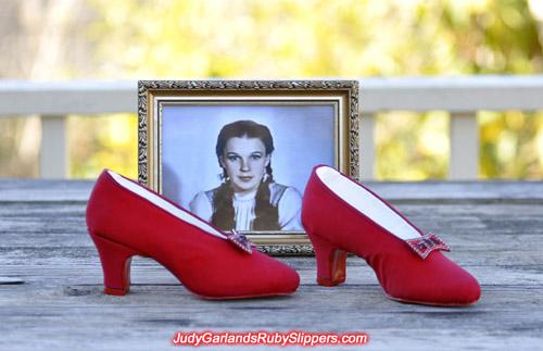 Custom-made ruby slipper base shoes