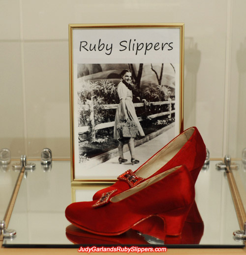 Custom-made ruby slipper base shoes