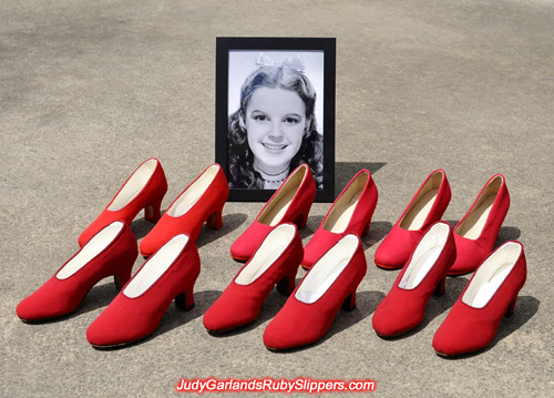 Custom made shoes in Judy Garland's size 5B