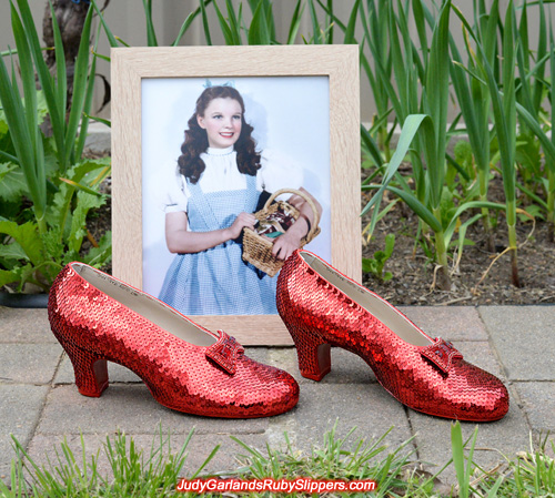 Dazzling pair of ruby slippers is now complete