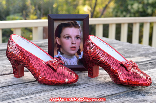 December 2015 project with Judy Garland's ruby slippers is completed