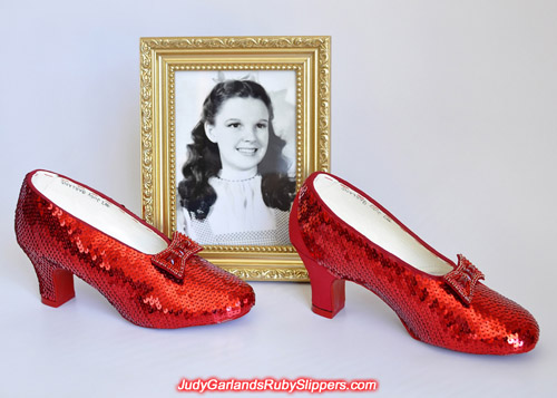 Exact replica of Judy Garland's ruby slipper is nearly finished