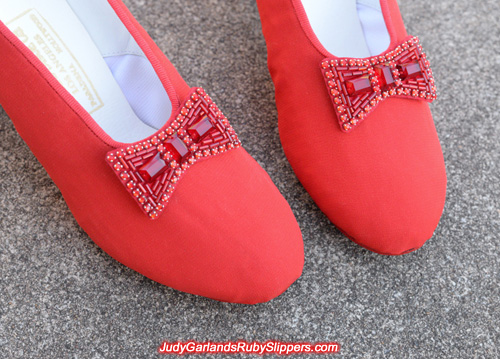 Exact replica pair of ruby slipper bows