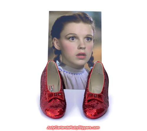 Extra photos of Judy Garland's ruby slippers