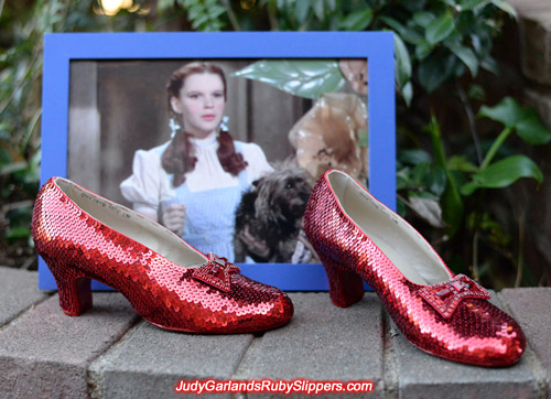 Final photo of this gorgeous pair of ruby slippers