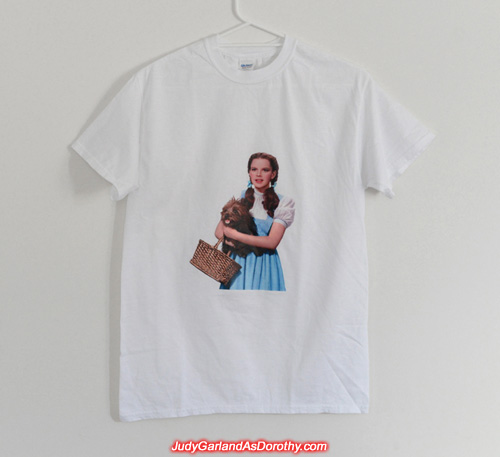 Free t-shirt with a picture of Judy Garland as Dorothy and Toto too!
