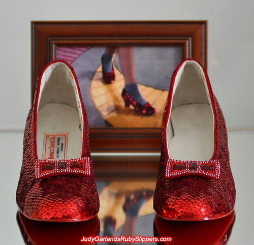 Gorgeous pair of Judy Garland's ruby slippers