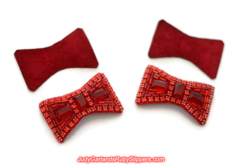 Hand-sewn ruby slipper bows to look brand new