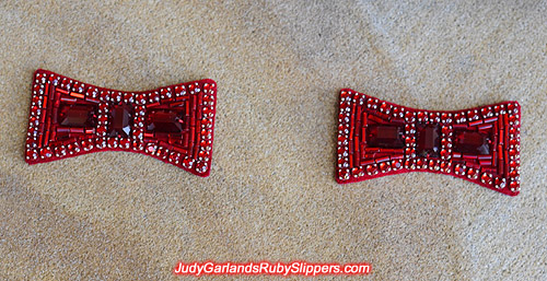 Handmade pair of ruby slipper bows
