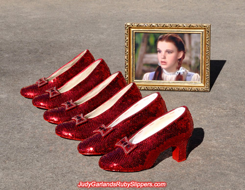 High quality, hand-sewn ruby slippers