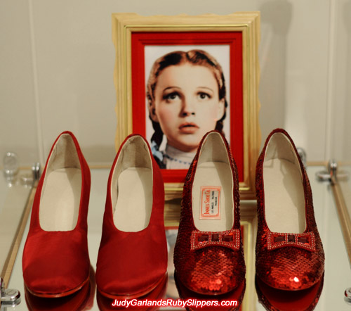 High quality replica of Judy Garland's ruby slippers