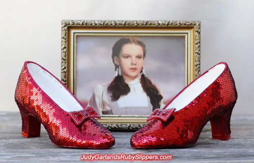 High quality replica ruby slippers as worn by Judy Garland as Dorothy