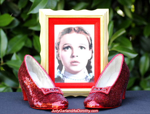 High quality replica ruby slippers from The Wizard of Oz