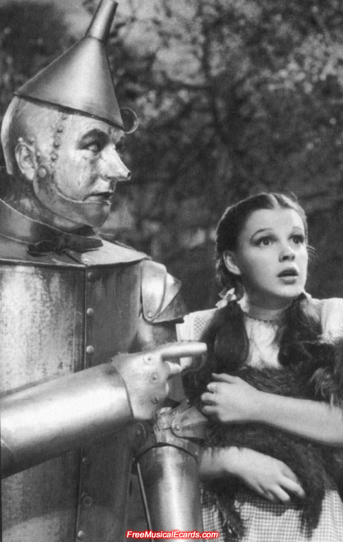 Judy Garland and Jack Haley teamed together in The Wizard of Oz