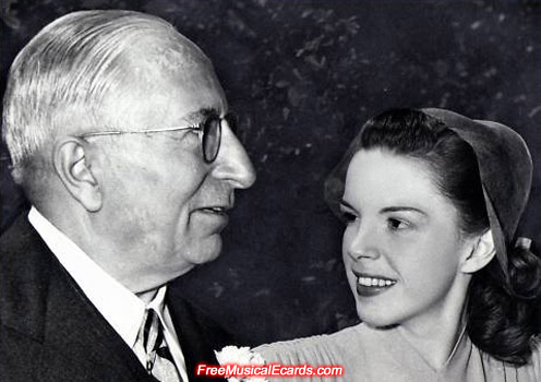 Judy Garland and MGM boss Louis B. Mayer