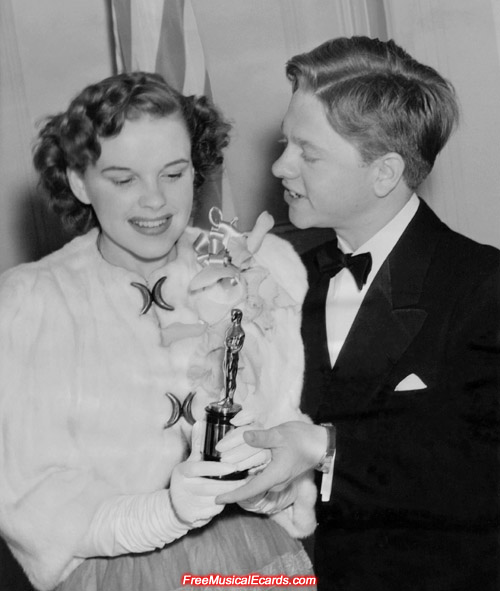 Judy Garland and Mickey Rooney at the 12th Academy Awards