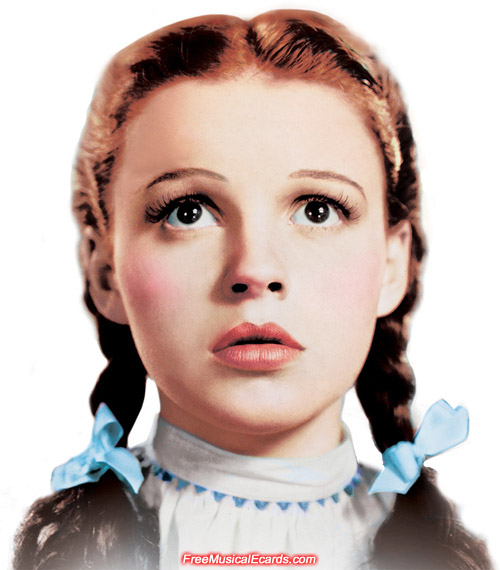 Judy Garland as Dorothy maintained her baby face