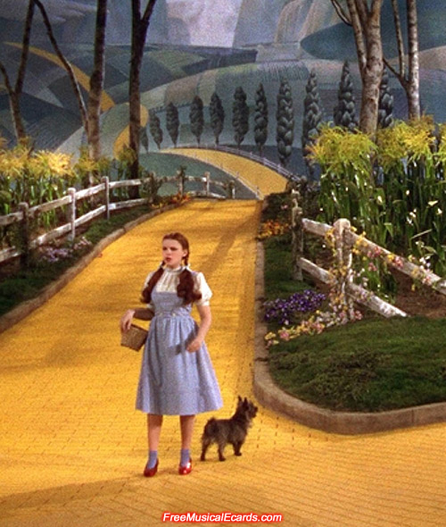 Judy Garland as Dorothy attained international superstardom on The Yellow Brick Road