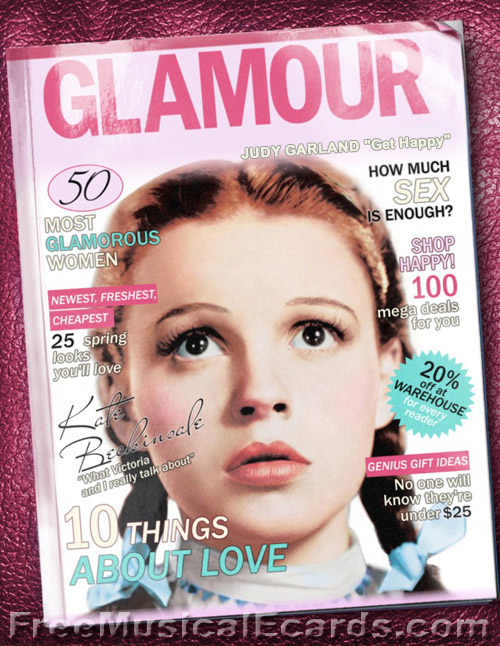 Judy Garland as Dorothy features on front cover of Glamour magazine