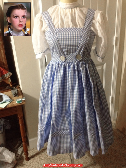 Judy Garland as Dorothy's gingham pinafore dress