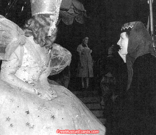 Judy Garland behind the scenes on The Wizard of Oz set