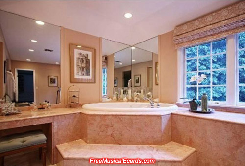 Bathroom in Judy Garland's Bel Air home