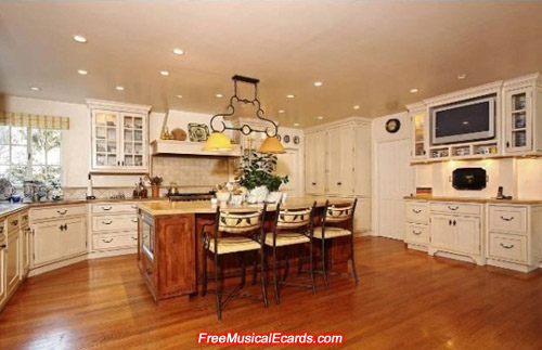 Kitchen in Judy Garland's Bel Air home