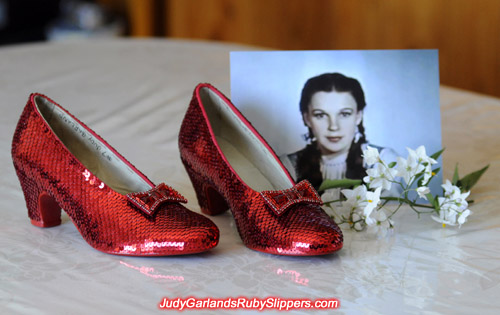 Judy Garland lives on through her ruby slippers