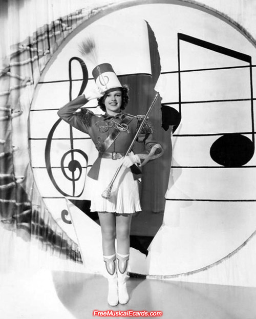 Judy Garland struts her stuff in a promotional photo for Strike Up the Band