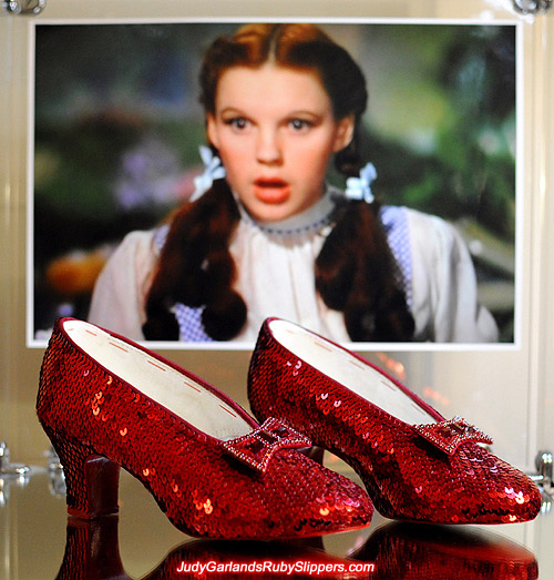 Judy Garland's authentic handmade reproduction ruby slippers